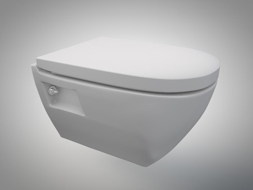 toilet closed seat 3d 3ds