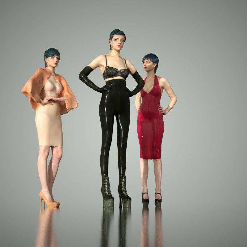 3d model of latex girls