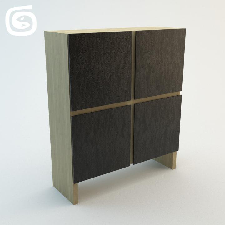 cabinet highboard 3d model