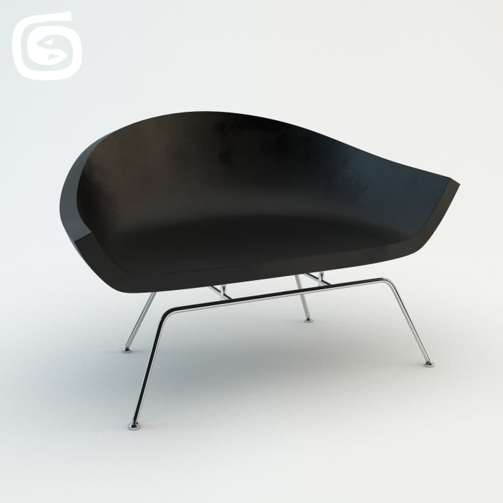 dreyfuss chair 3d max