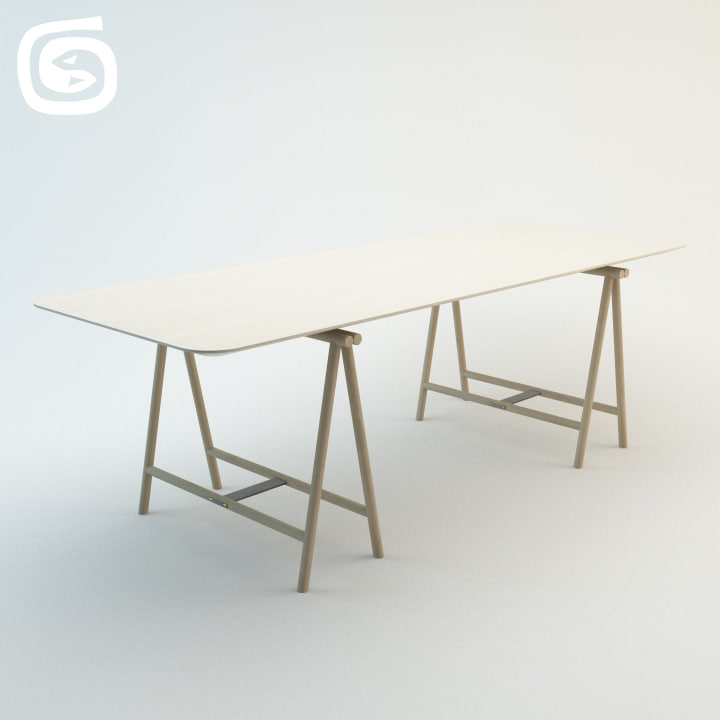 spade table 3d model