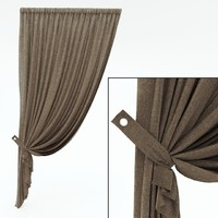 3d model of curtains window