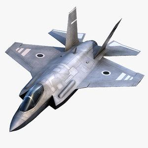 3d model f-35 ii jet fighter