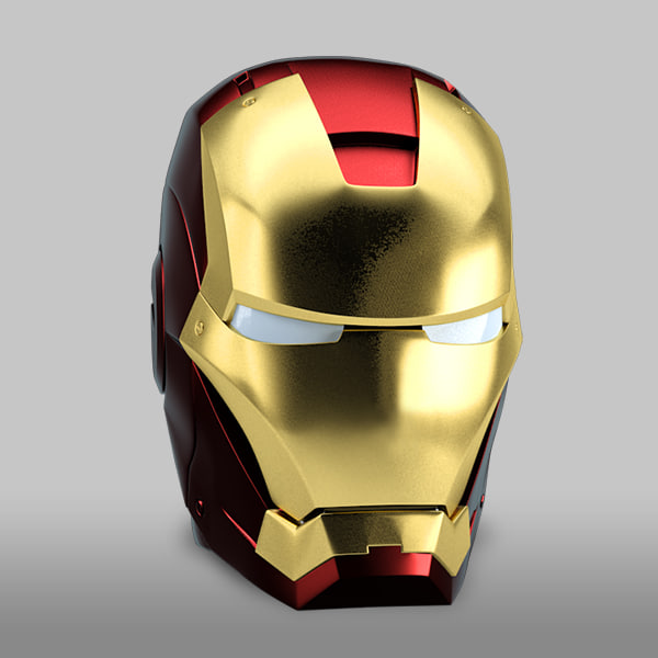 iron man helmet 3d 3ds