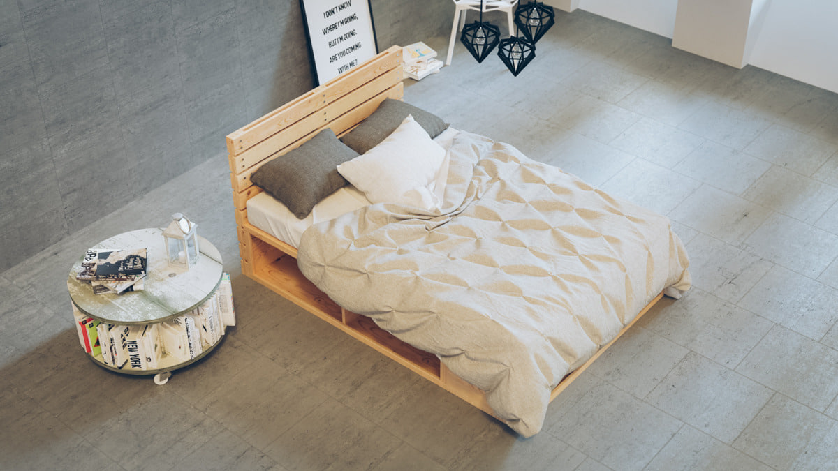 3d realistic bed