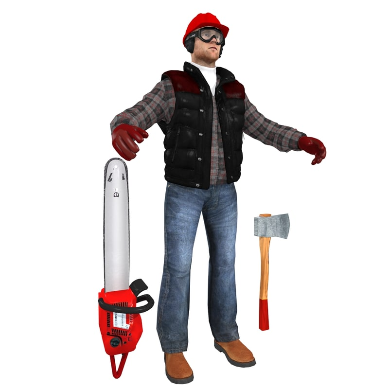 3d model jack worker 6 man