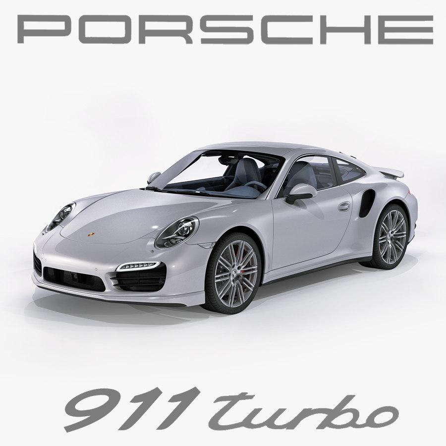 3d porsche 911 turbo 2014 model