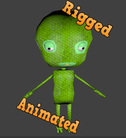 rigged games animation 3d model