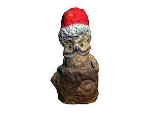 free christmas owl - souvenir 3d model