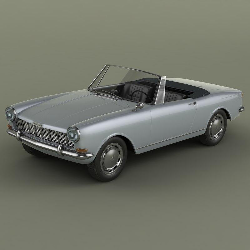 opel kadett frua cabriolet 3d model