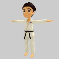 3d model karate kid