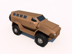 3d ambush mrap model