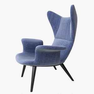 moroso longwave chair 3d x