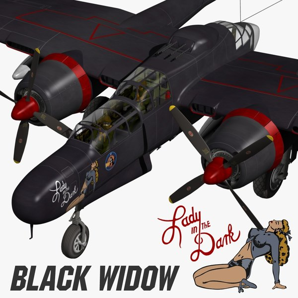 p-61 black widow 3d model