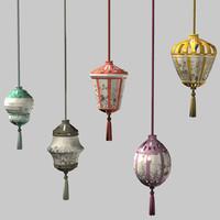 Oriental Style Hanging Lanterns