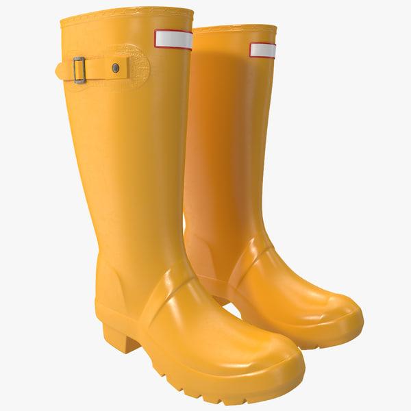 rain boots 3d max