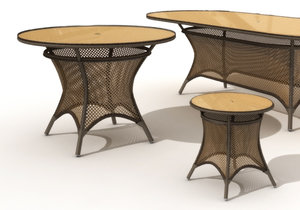 table grand traverse lloyd 3d model