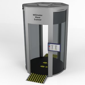 millimeter wave body scanner 3d model