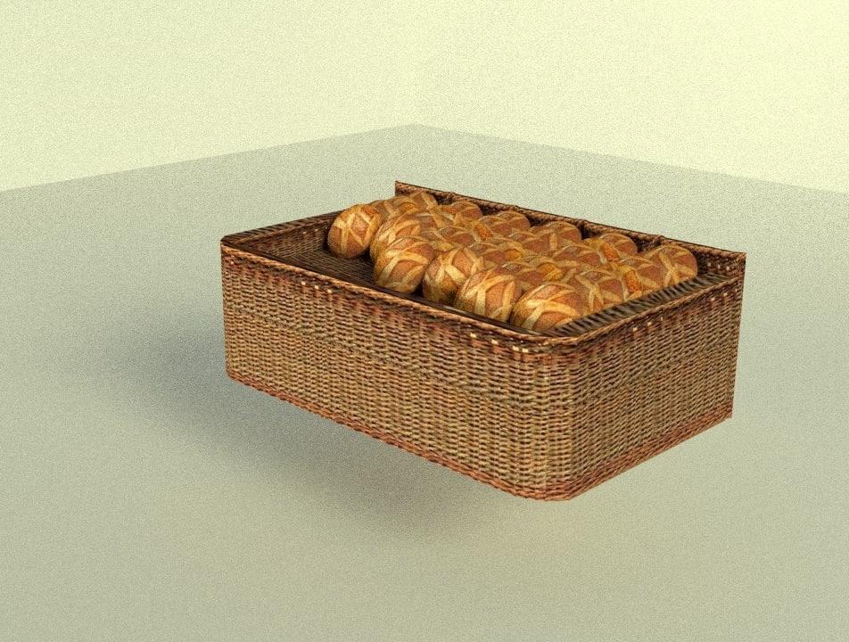 3d bread display