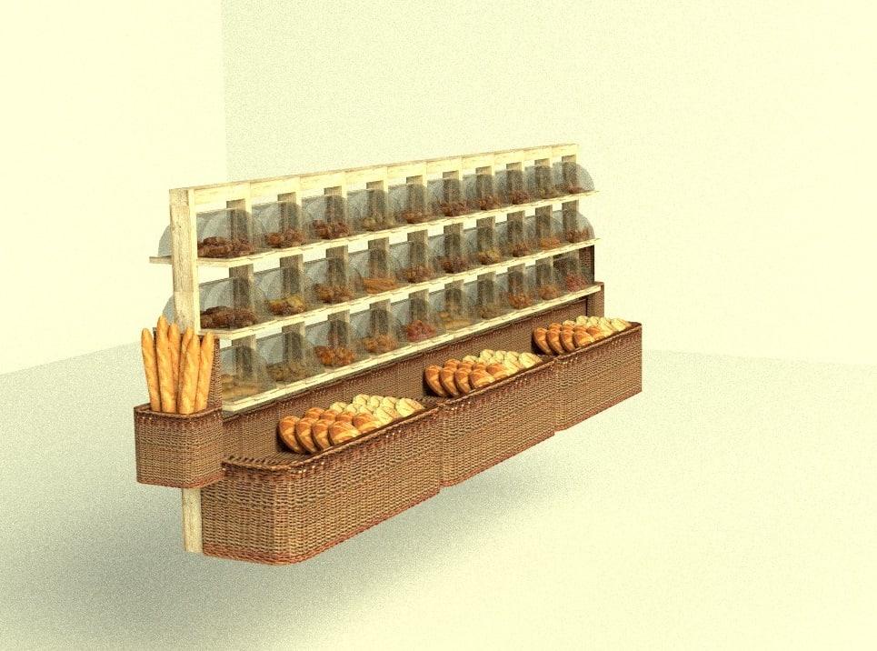 3d supermarket bakery