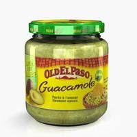 3d model sauce guacamole