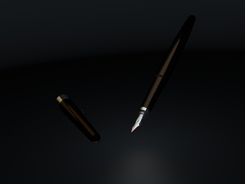 rez fountain pen 3d model