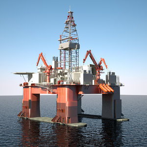 submersible drilling rig 3ds