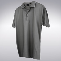 Men's Tennis Shirt Gray - 3D Scanned