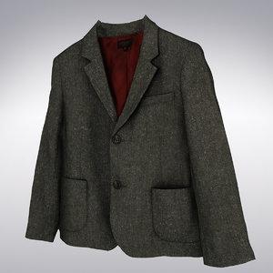 3ds max men s gray tweed