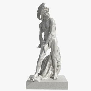 3d philopoemen marble greek model