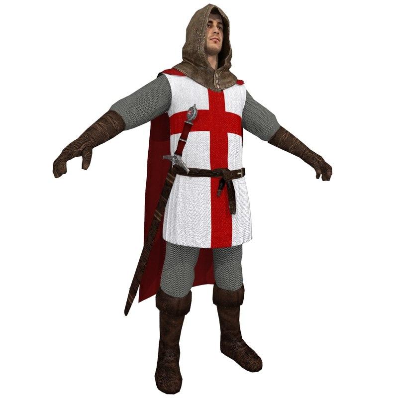 3dsmax medieval crusader