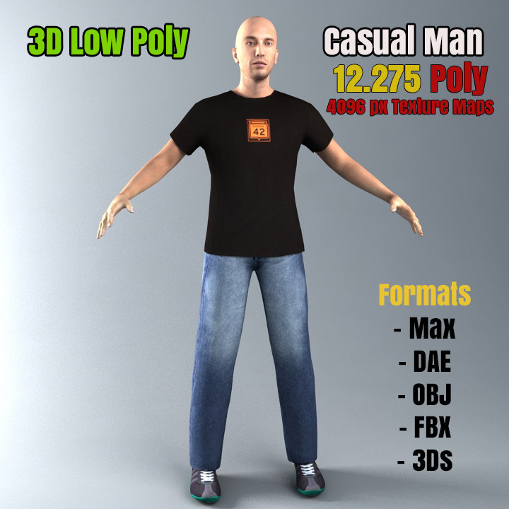 3ds max casual male