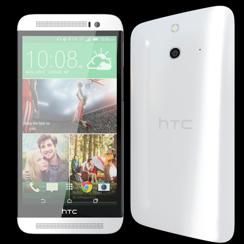 3d realistic htc e8 white model