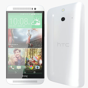3d realistic htc e8 white model