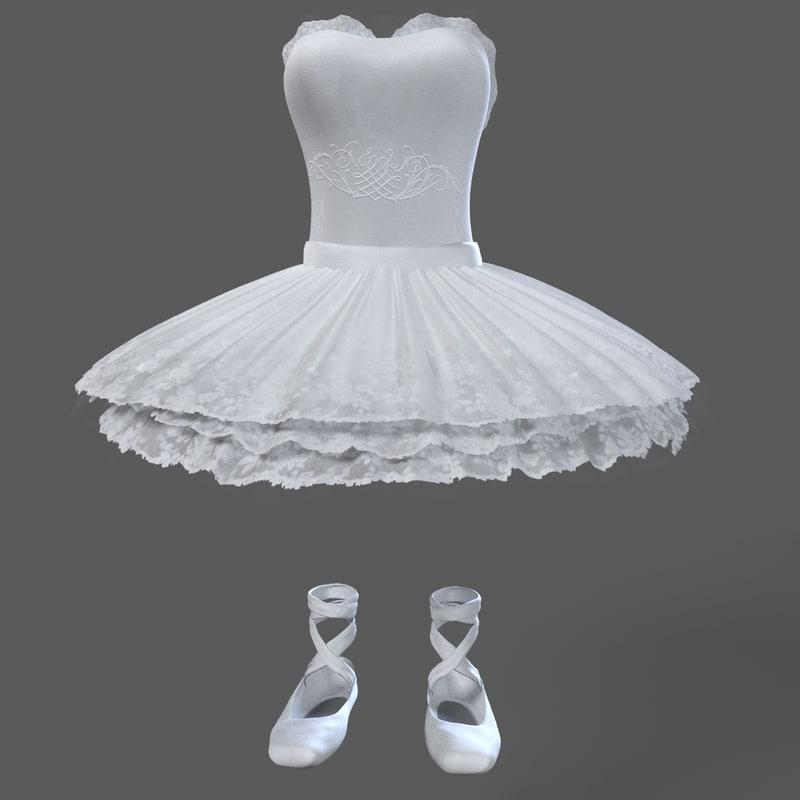 3d ballerina outfit