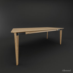 3d model emeco lancaster dining table