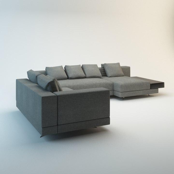 max fabric leather sofa
