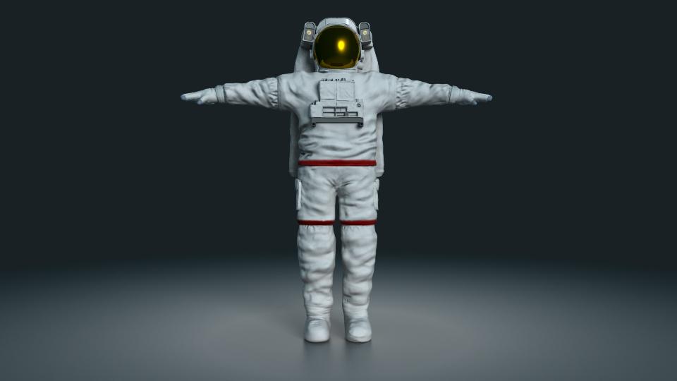 3d astronaut character model