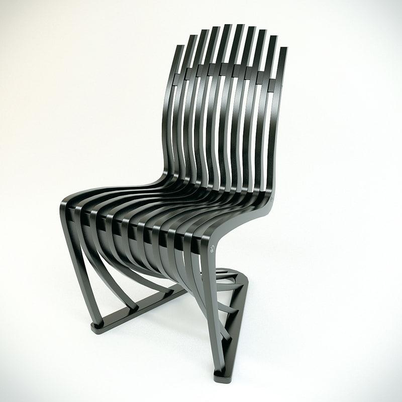 3d model chair stripe joachim king