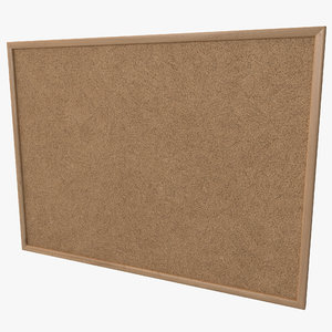 3d model corkboard design