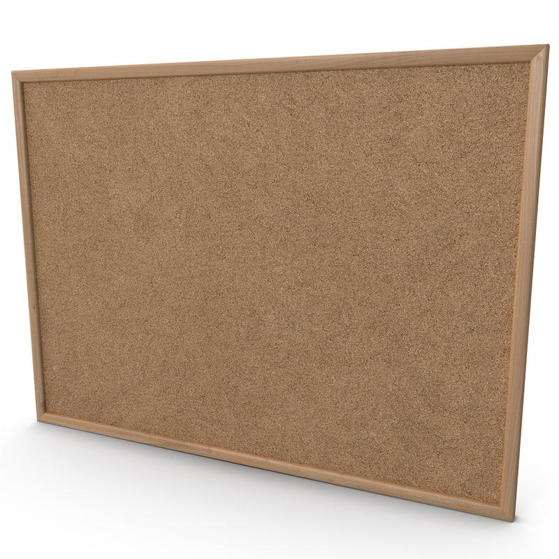 3d model corkboard design