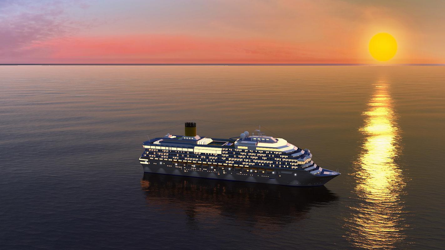 cruise ship 3d obj