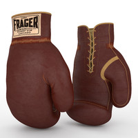 3d model sammy boxing gloves