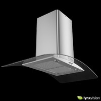 Curved Glass Chimney Hood
