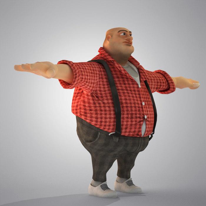 egypt cartoon fat man s