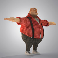 Egypt Cartoon( Fat Man)