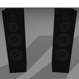 speakers stereo c4d