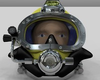 diving helmet 3d 3dm