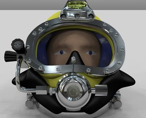 diving helmet 3d 3dm