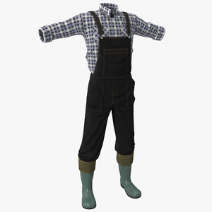 farmer clothes 3d model